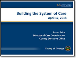STUDY SESSION ON BUILDING THE COUNTY'S SYSTEM OF CARE